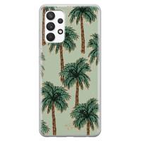 Telefoonhoesje Store Samsung Galaxy A32 4G siliconen hoesje - Palmbomen