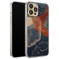 ELLECHIQ iPhone 12 Pro siliconen hoesje - Abstract Terracotta