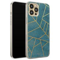 Telefoonhoesje Store iPhone 12 Pro siliconen hoesje - Abstract blauw