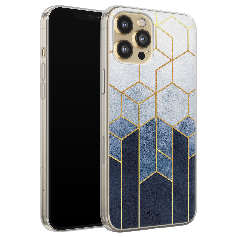 Telefoonhoesje Store iPhone 12 siliconen hoesje - Geometrisch fade art