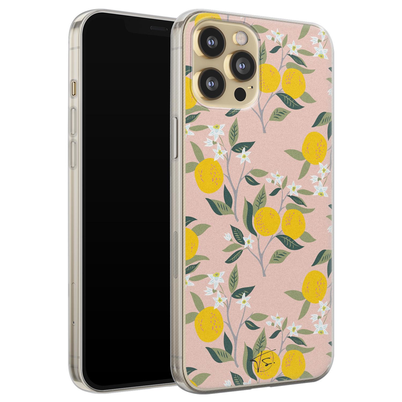 Telefoonhoesje Store iPhone 12 siliconen hoesje - Citroenen