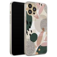 Leuke Telefoonhoesjes iPhone 12 siliconen hoesje - Abstract
