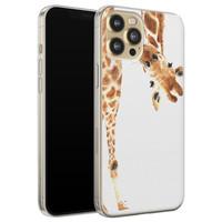 Leuke Telefoonhoesjes iPhone 12 siliconen hoesje - Giraffe
