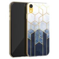 Telefoonhoesje Store iPhone XR siliconen hoesje - Geometrisch fade art