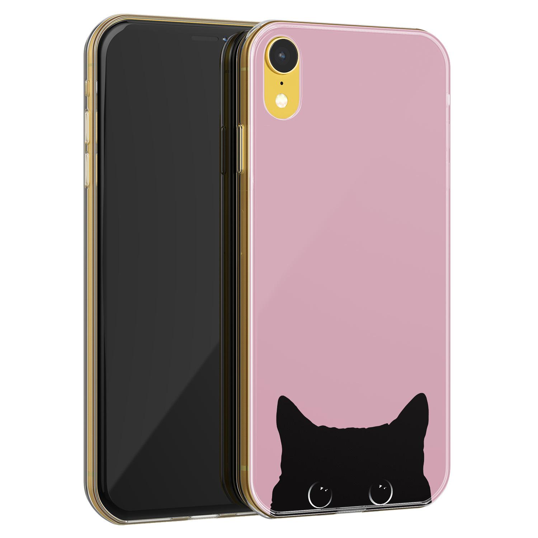 Telefoonhoesje Store iPhone XR siliconen hoesje - Zwarte kat