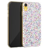 Telefoonhoesje Store iPhone XR siliconen hoesje - Purple Garden