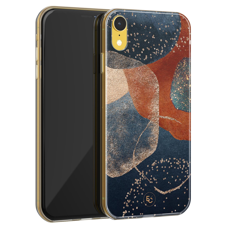ELLECHIQ iPhone XR siliconen hoesje - Abstract Terracotta