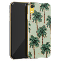Telefoonhoesje Store iPhone XR siliconen hoesje - Palmbomen