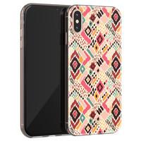 Telefoonhoesje Store iPhone X/XS siliconen hoesje - Boho vibes