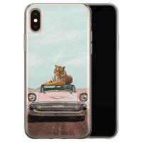 Telefoonhoesje Store iPhone X/XS siliconen hoesje - Chill tijger