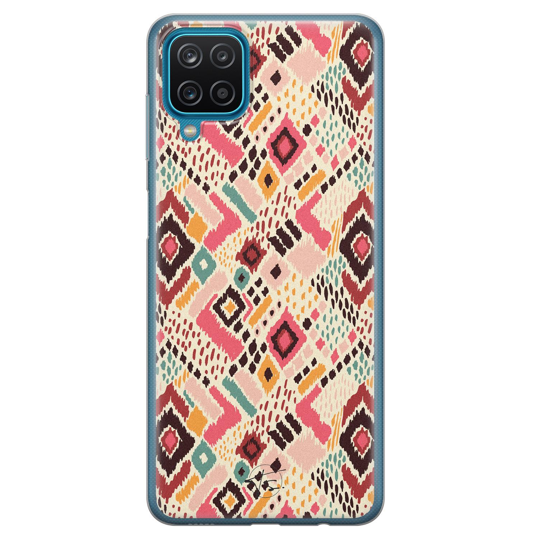 Telefoonhoesje Store Samsung Galaxy A12 siliconen hoesje - Boho vibes
