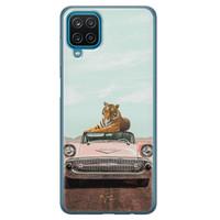 Telefoonhoesje Store Samsung Galaxy A12 siliconen hoesje - Chill tijger