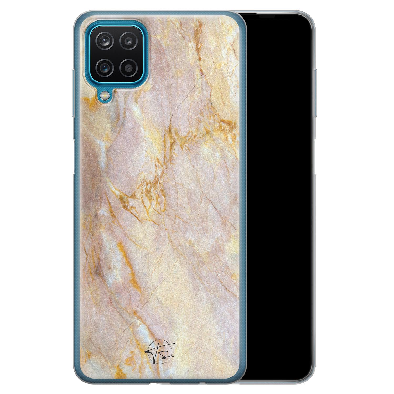 ELLECHIQ Samsung Galaxy A12 siliconen hoesje - Stay Golden Marble