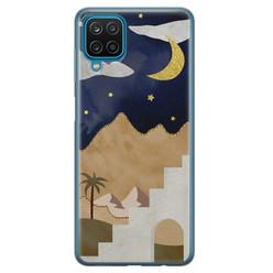 Leuke Telefoonhoesjes Samsung Galaxy A12 siliconen hoesje - Desert night