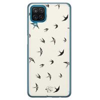 Telefoonhoesje Store Samsung Galaxy A12 siliconen hoesje - Freedom birds