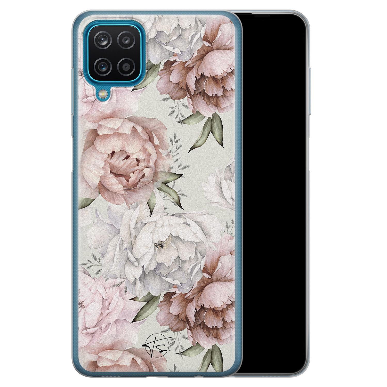 Telefoonhoesje Store Samsung Galaxy A12 siliconen hoesje - Classy flowers