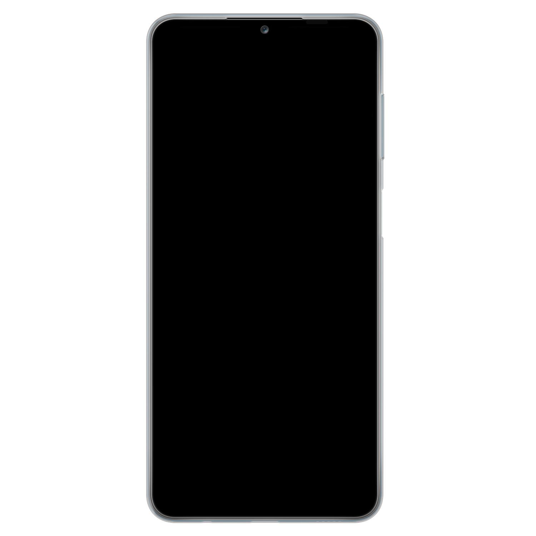 Telefoonhoesje Store Samsung Galaxy A12 siliconen hoesje - Mint bloemen