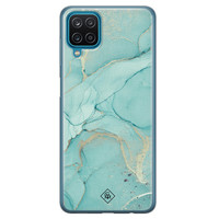 Casimoda Samsung Galaxy A12 siliconen hoesje - Touch of mint