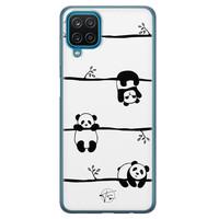 Telefoonhoesje Store Samsung Galaxy A12 siliconen hoesje - Panda