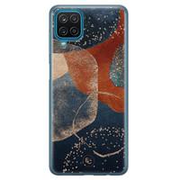 ELLECHIQ Samsung Galaxy A12 siliconen hoesje - Abstract Terracotta