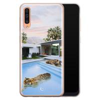 ELLECHIQ Samsung Galaxy A70 siliconen hoesje - Tiger pool