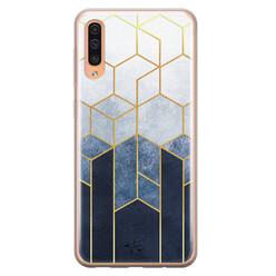 Telefoonhoesje Store Samsung Galaxy A70 siliconen hoesje - Geometrisch fade art