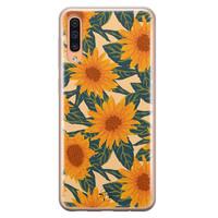 Telefoonhoesje Store Samsung Galaxy A70 siliconen hoesje - Zonnebloemen