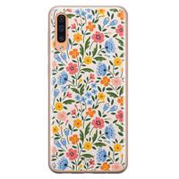 Telefoonhoesje Store Samsung Galaxy A70 siliconen hoesje - Romantische bloemen