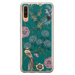 Telefoonhoesje Store Samsung Galaxy A70 siliconen hoesje - Bloomy birds