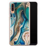 Telefoonhoesje Store Samsung Galaxy A70 siliconen hoesje - Magic marble