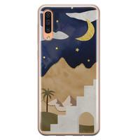 Leuke Telefoonhoesjes Samsung Galaxy A70 siliconen hoesje - Desert night