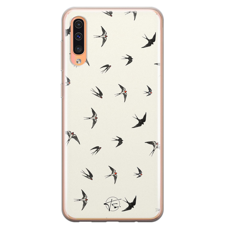 Telefoonhoesje Store Samsung Galaxy A70 siliconen hoesje - Freedom birds