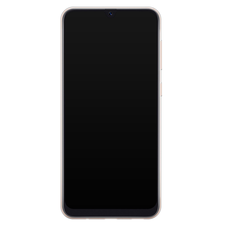 Telefoonhoesje Store Samsung Galaxy A70 siliconen hoesje - Mint bloemen