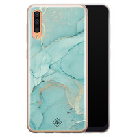 Casimoda Samsung Galaxy A70 siliconen hoesje - Touch of mint