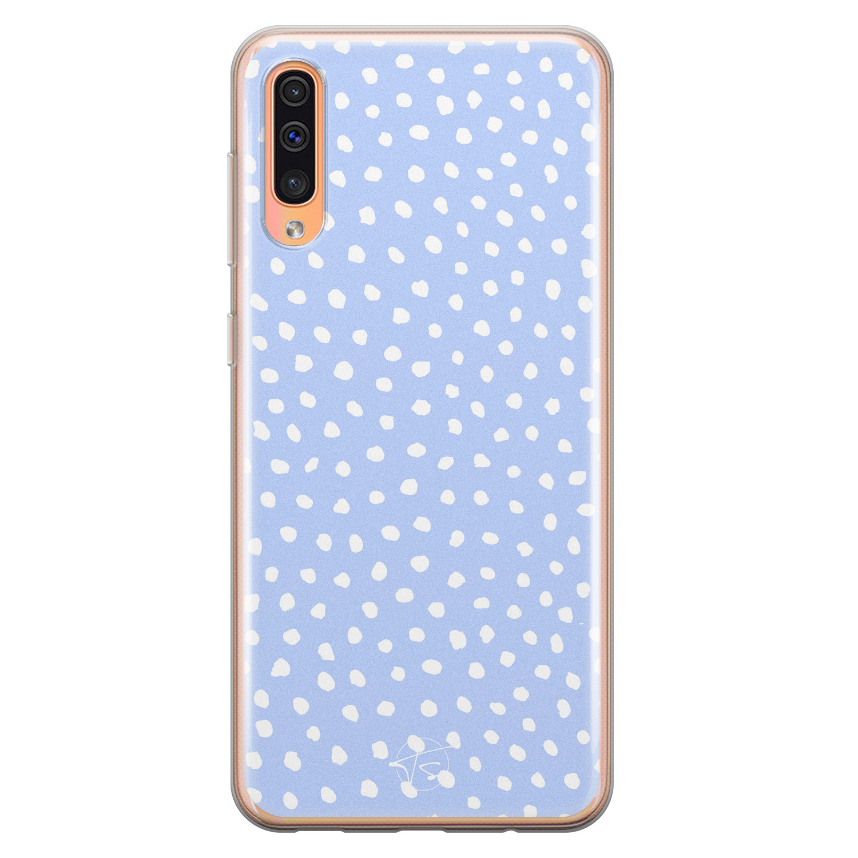 Telefoonhoesje Store Samsung Galaxy A70 siliconen hoesje - Purple dots
