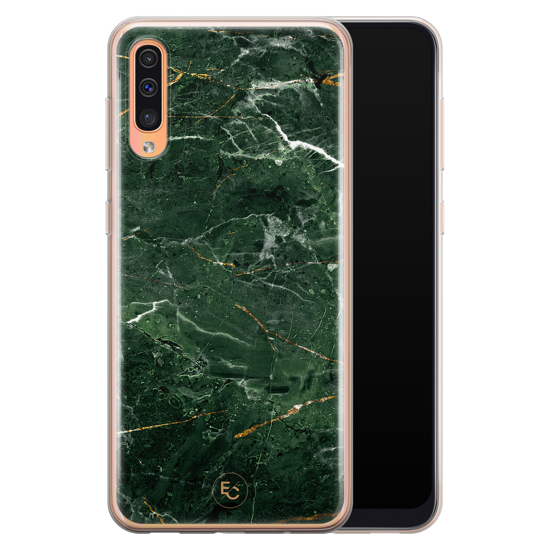 ELLECHIQ Samsung Galaxy A70 siliconen hoesje - Marble jade green