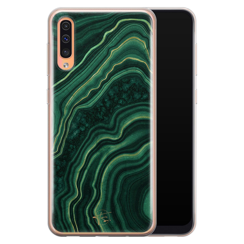 Telefoonhoesje Store Samsung Galaxy A70 siliconen hoesje - Agate groen