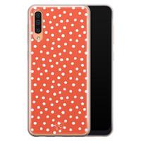 Telefoonhoesje Store Samsung Galaxy A70 siliconen hoesje - Orange dots