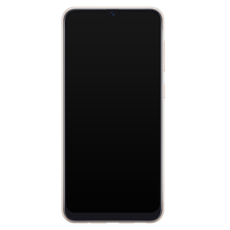 Telefoonhoesje Store Samsung Galaxy A70 siliconen hoesje - Abstract peach