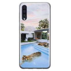 ELLECHIQ Samsung Galaxy A50 siliconen hoesje - Tiger pool