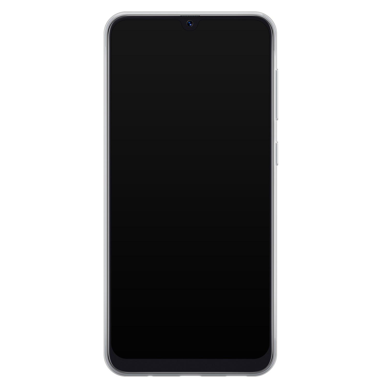 Telefoonhoesje Store Samsung Galaxy A50 siliconen hoesje - Marmer blauw goud