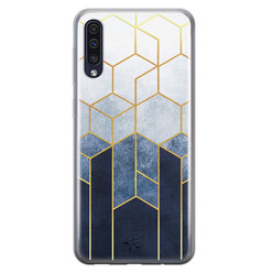 Telefoonhoesje Store Samsung Galaxy A50 siliconen hoesje - Geometrisch fade art