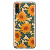 Telefoonhoesje Store Samsung Galaxy A50 siliconen hoesje - Zonnebloemen