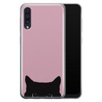 Telefoonhoesje Store Samsung Galaxy A50 siliconen hoesje - Zwarte kat