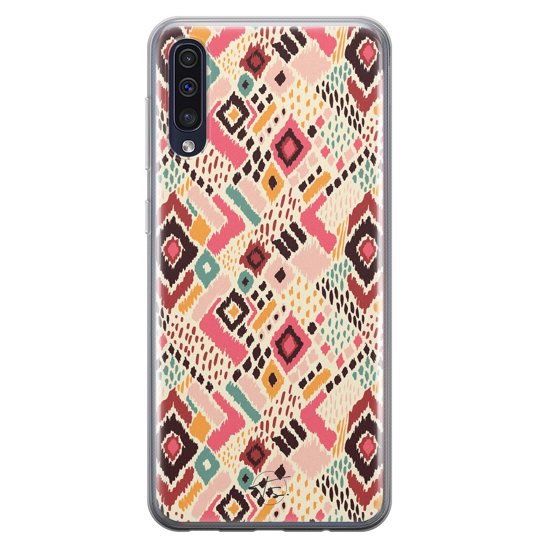 Telefoonhoesje Store Samsung Galaxy A50 siliconen hoesje - Boho vibes