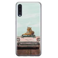 Telefoonhoesje Store Samsung Galaxy A50 siliconen hoesje - Chill tijger