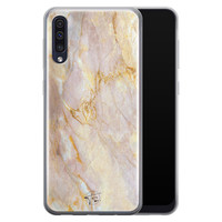ELLECHIQ Samsung Galaxy A50 siliconen hoesje - Stay Golden Marble