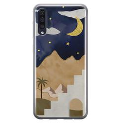 Leuke Telefoonhoesjes Samsung Galaxy A50 siliconen hoesje - Desert night