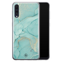 Casimoda Samsung Galaxy A50 siliconen hoesje - Touch of mint