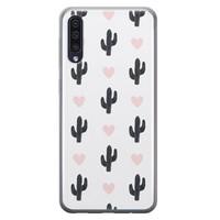 Leuke Telefoonhoesjes Samsung Galaxy A50 siliconen hoesje - Cactus love